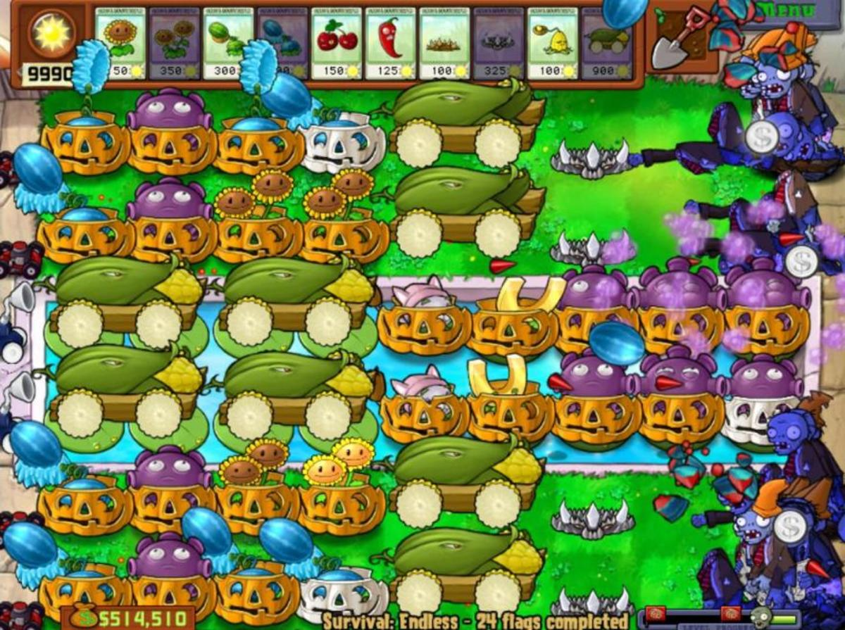 Alive and Planting Achievement in Plants vs. Zombies