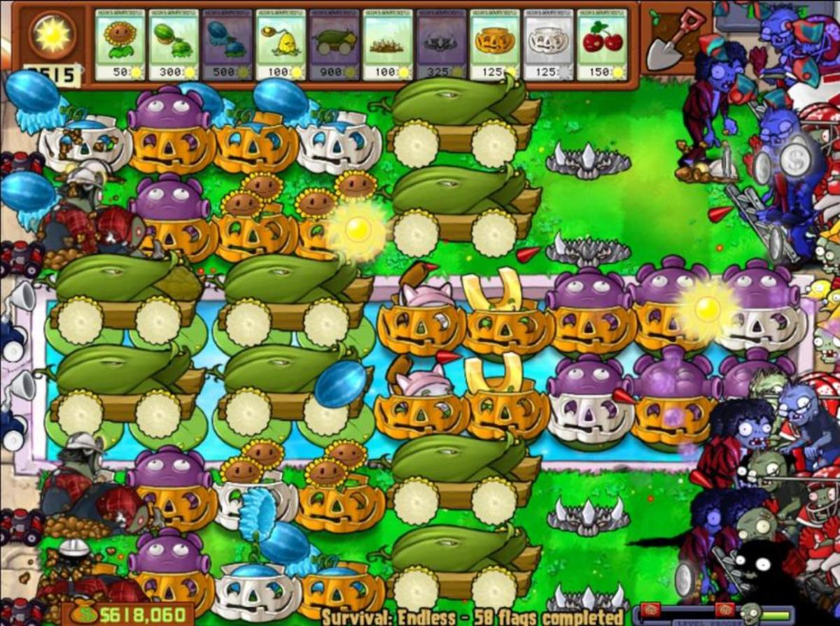 Plants Vs Zombies Survival Endless 200 Flags and Beyond | Cobless ...