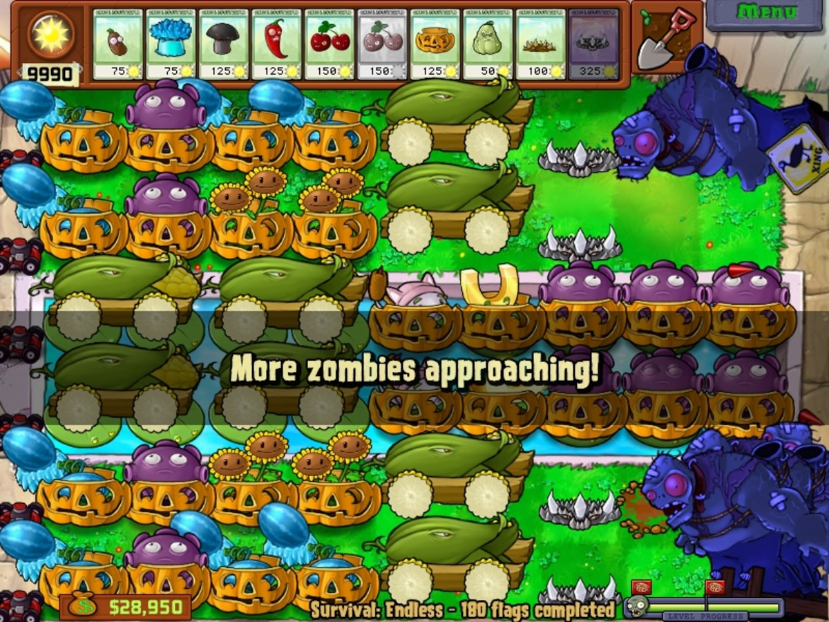 Plants vs zombies survival endless 200 flags and beyond cobless