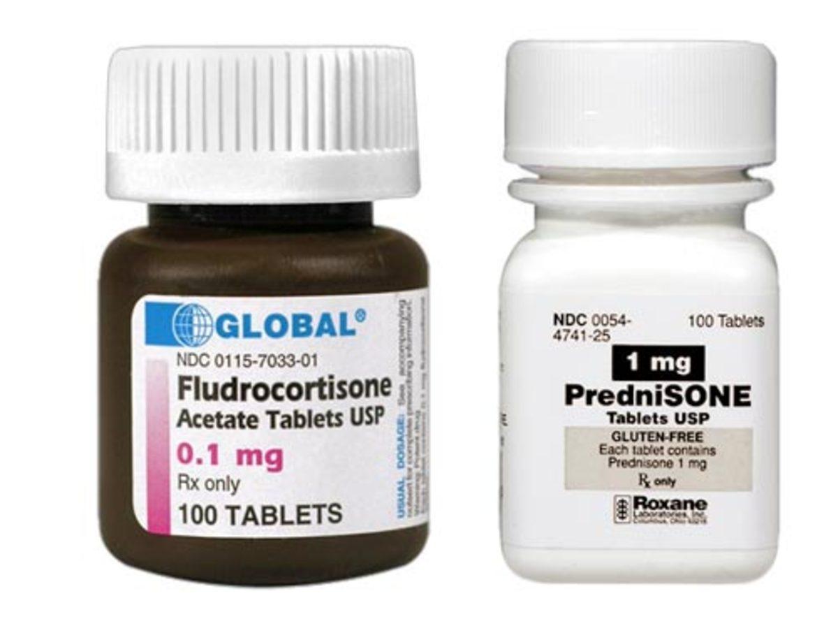 Fludrocortisone is a common medication to treat Addison's in dogs. Both Fludrocortisone and Prednisone require a veterinarian's prescription.