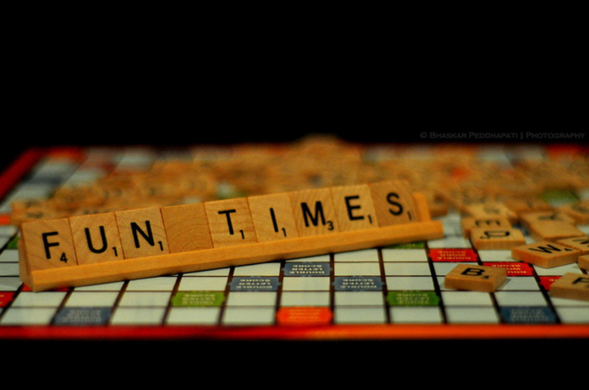 "Scrabble is a classic game that fell off our list this year.  It's still frequently played, but when the family voted, it just didn't cut the mustard. However, the message here, ""Fun Times"" seemed appropriate for any page of best family games."