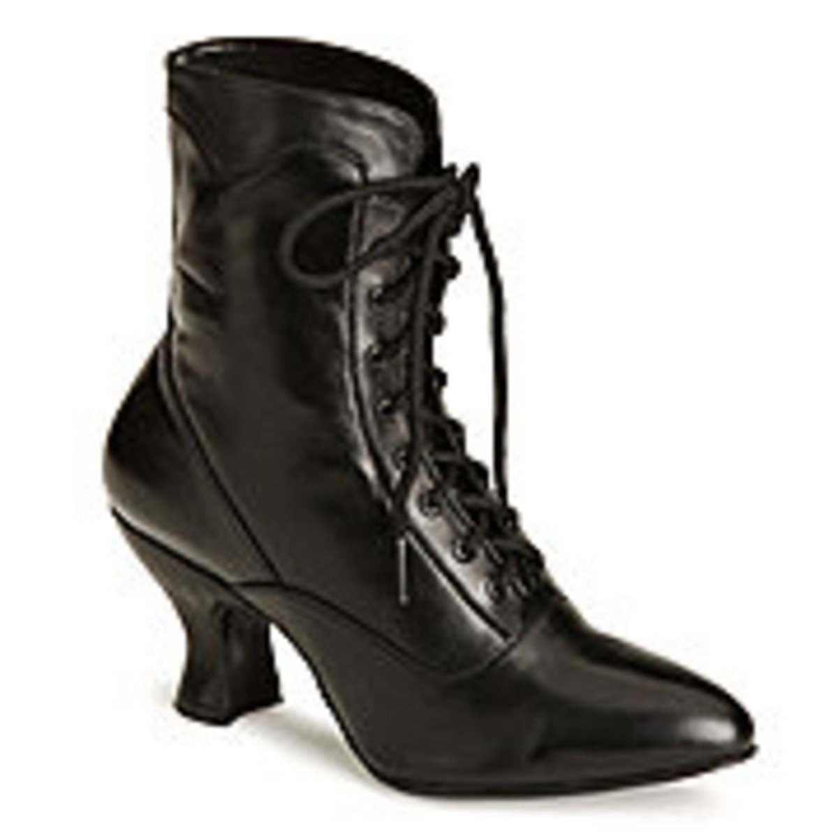 Black lace up Victorian Boots