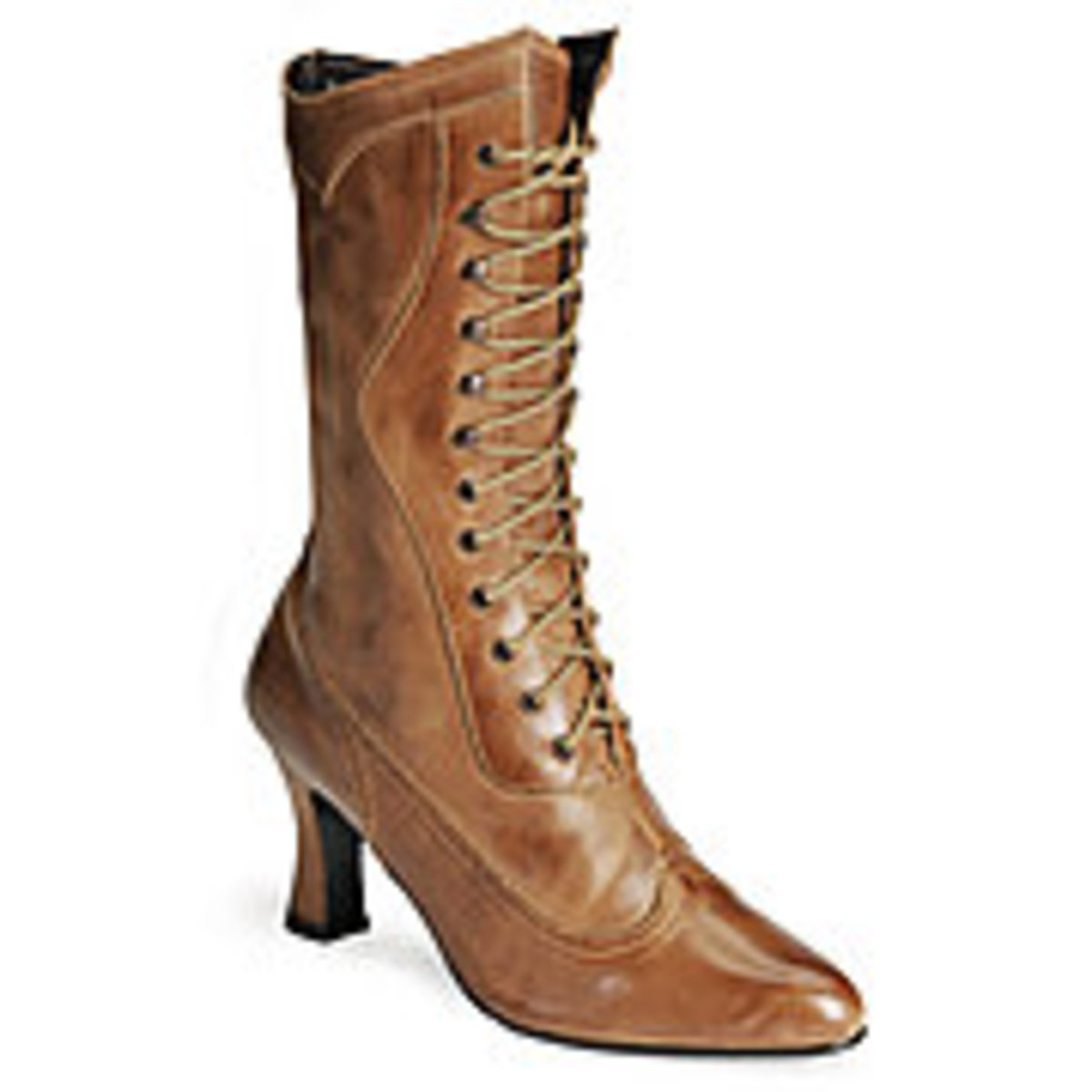 Beautiful brown Victorian lace up boots