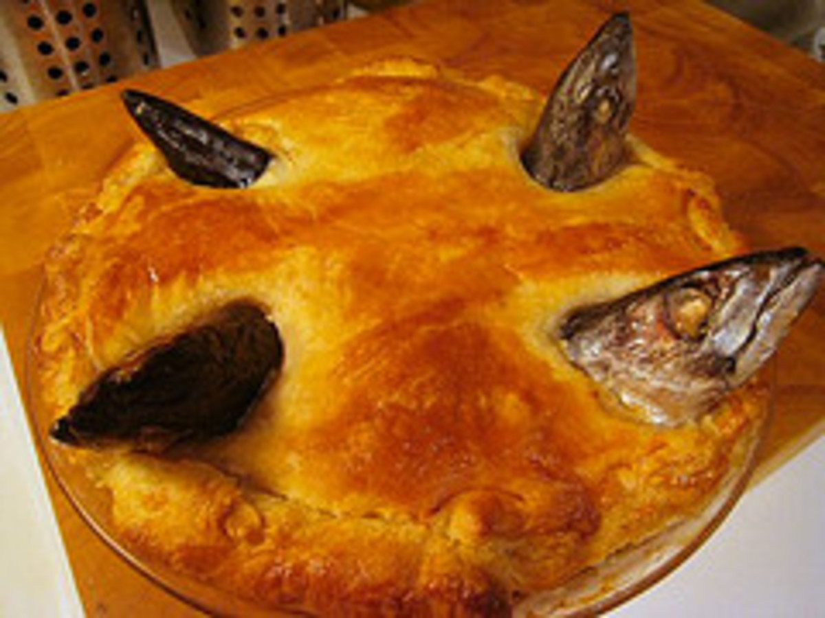 Food! Stargazy Pie a Delightful Cornish Recipe. See why it's Star Gazy!