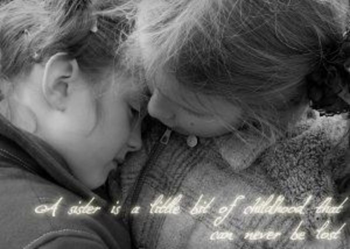 A sister is little bit of childhood that can never be lost. ~Marion C. Garretty