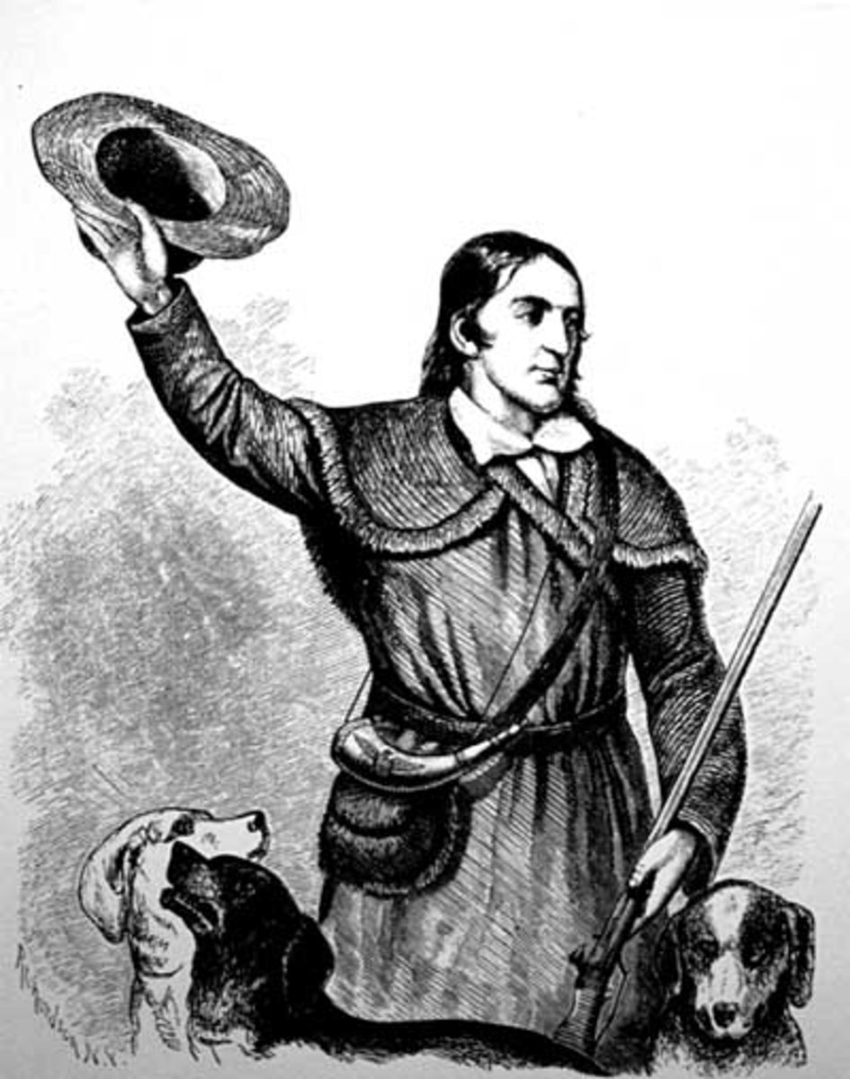 Portrait of Davy Crocket