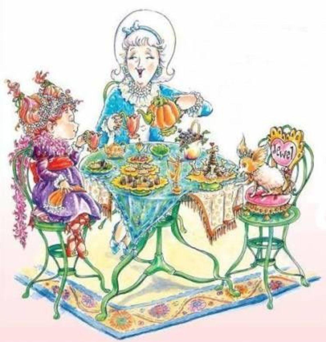 Fancy Nancy Tea Parties Book