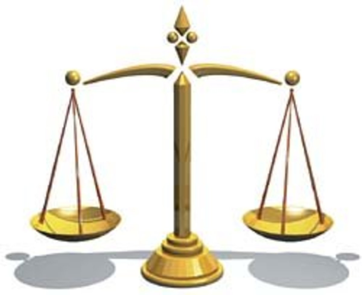 scales of justice -    keeping things in balance?