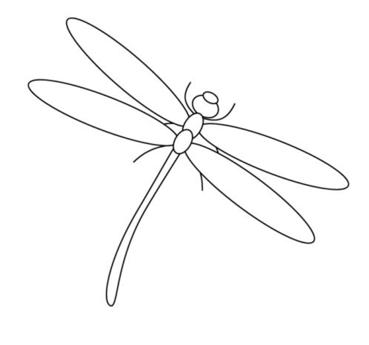 Dragon fly nature coloring page