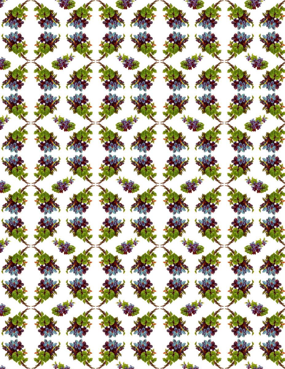 Free Victorian forget-me-nots scrapbook paper -- lattice pattern