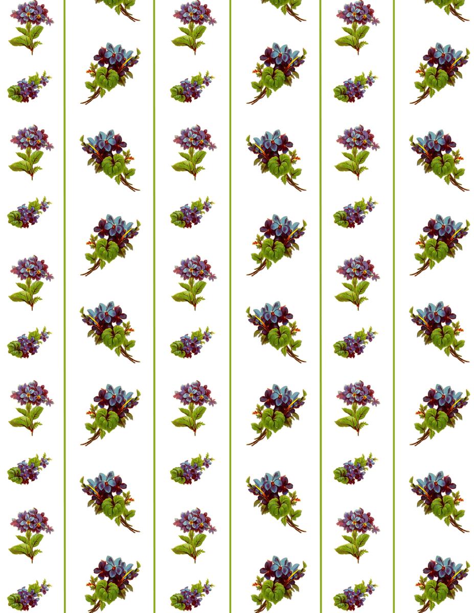 Free Victorian forget-me-nots scrapbook paper -- stripes