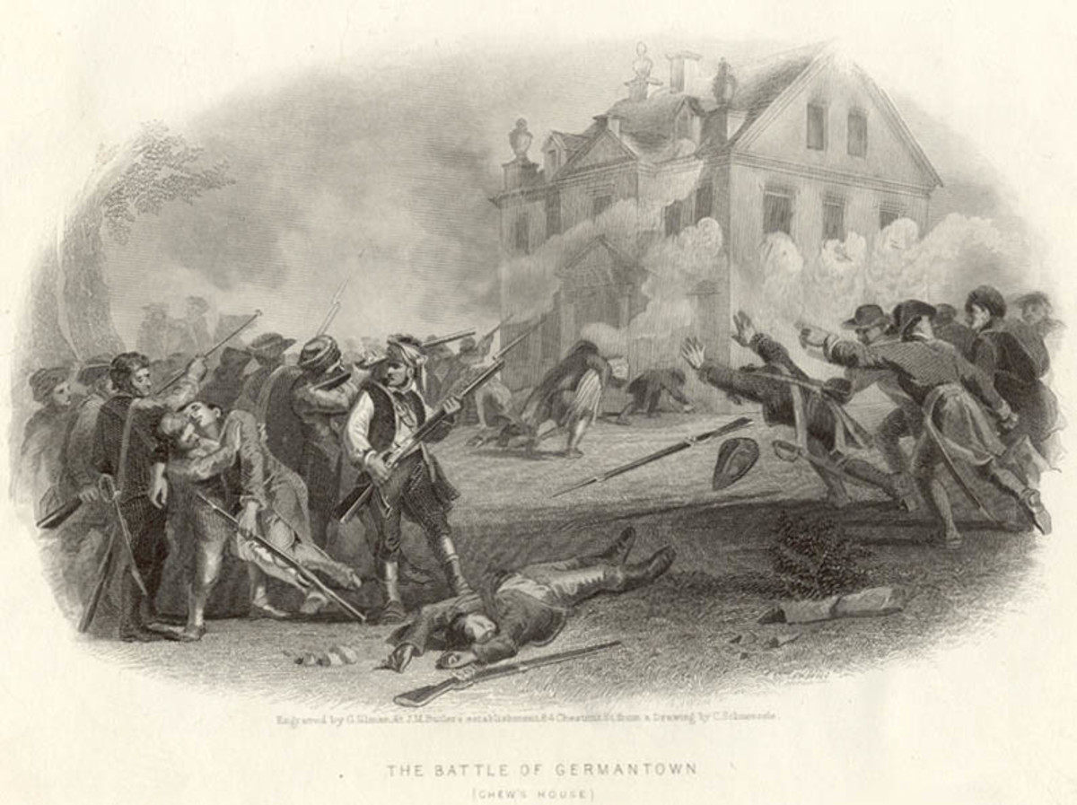 The Battle of Germantown, drawn in or before 1880 by Christian Schussele.