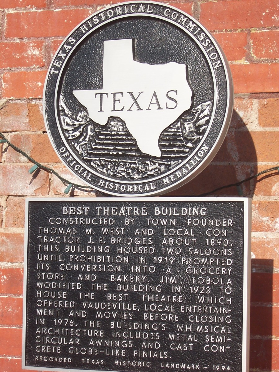 Copyright(c)KCC Big Country  Sign at Best Theater in West, TX
