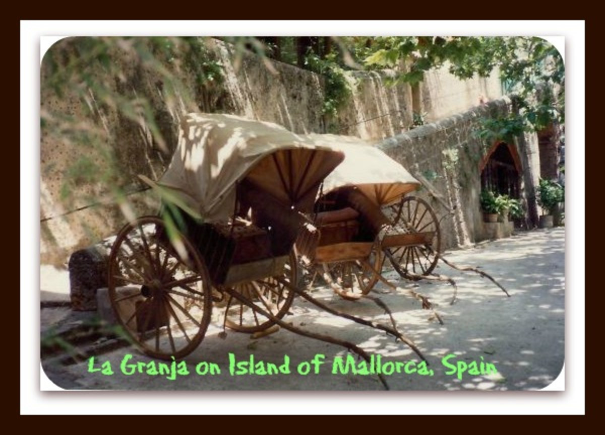 Used to transport people - La Granja on the Island of Mallorca