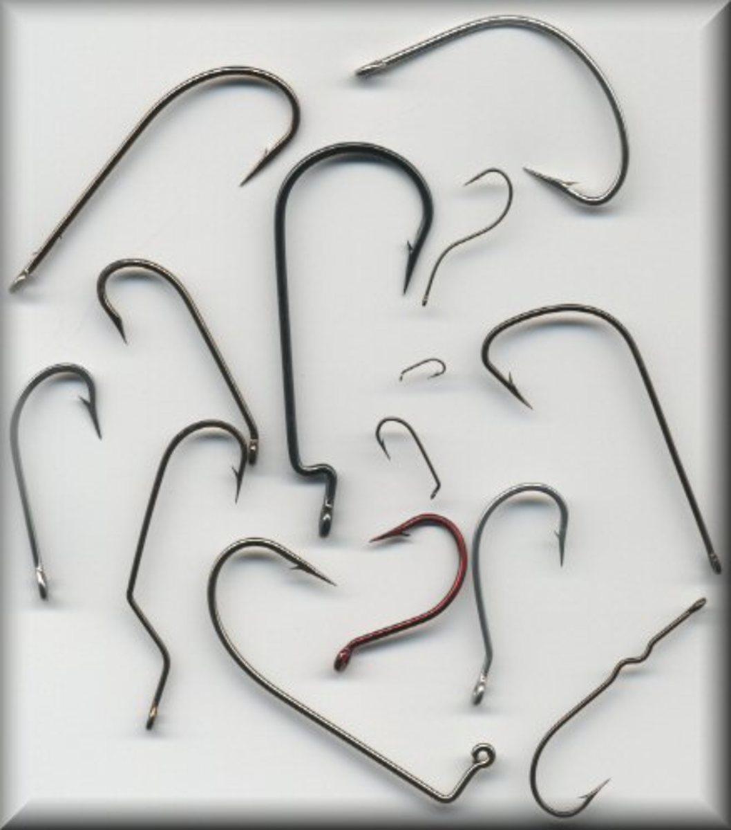 Shapes and Sizes of Fishing Hooks