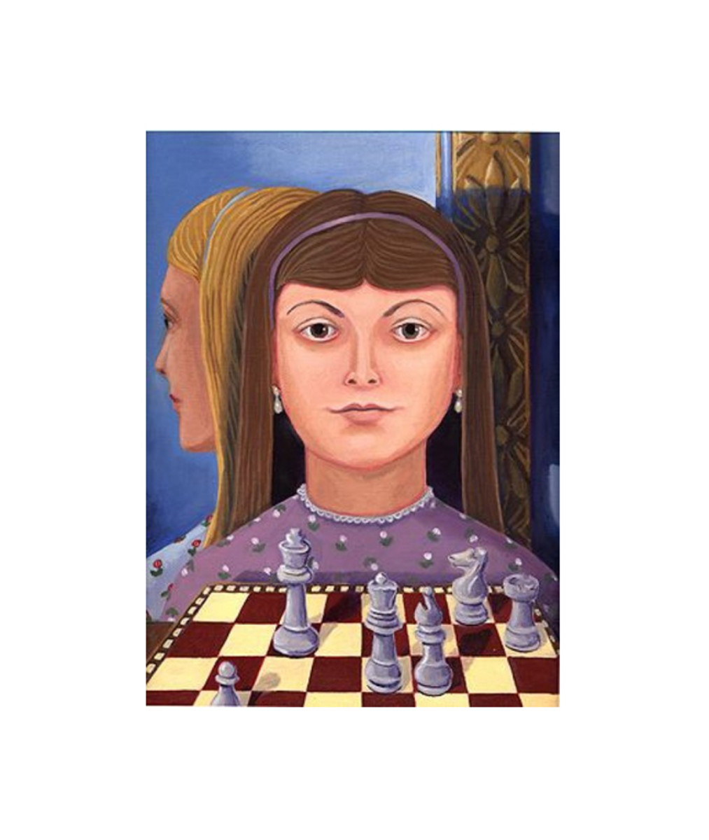 """The Chess Set (Portrait of Alice Liddell)"" by Sheryl Humphrey"