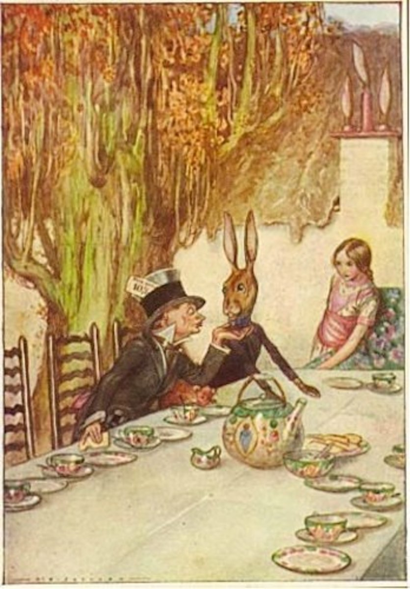 """A Mad Tea Party"" by A.E. Jackson (1915)"