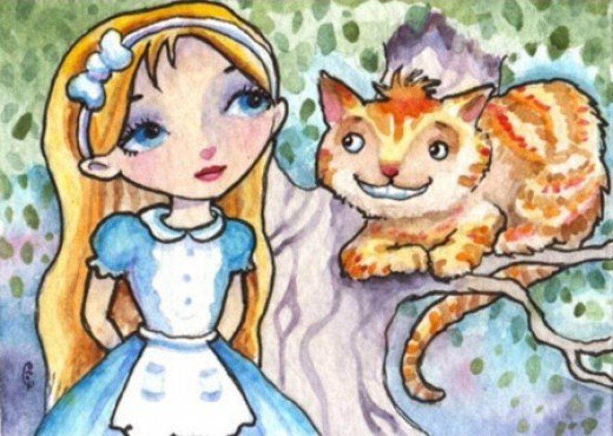"""Alice and the Cheshire Cat"" by Elaine Cox"
