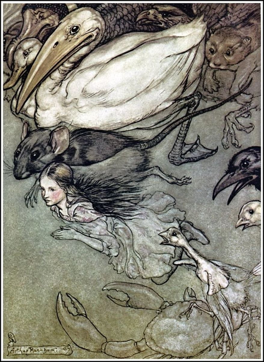 """The Pool of Tears"" by Arthur Rackham"