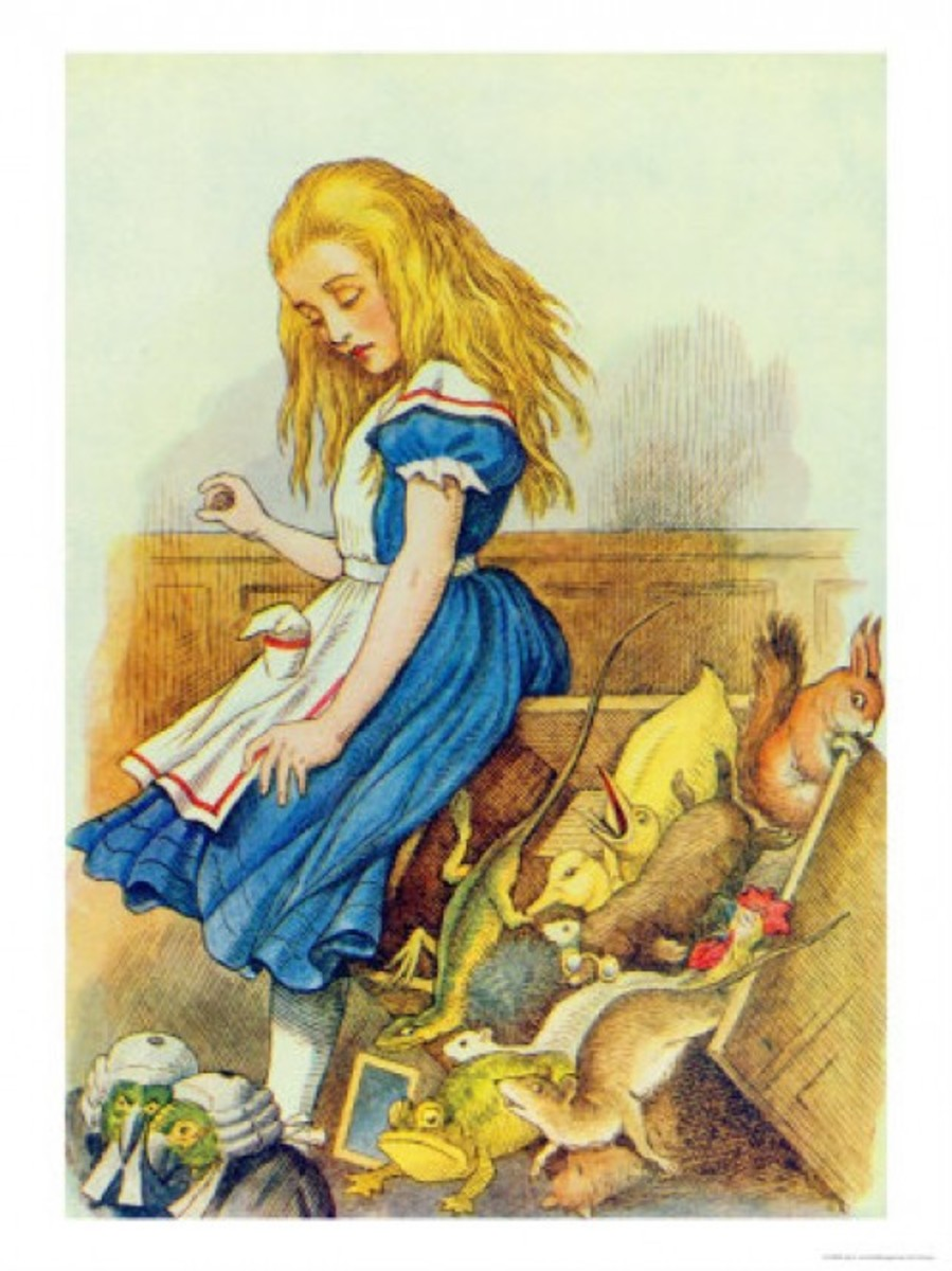 """Alice Upsets the Jury Box"" by John Tenniel"