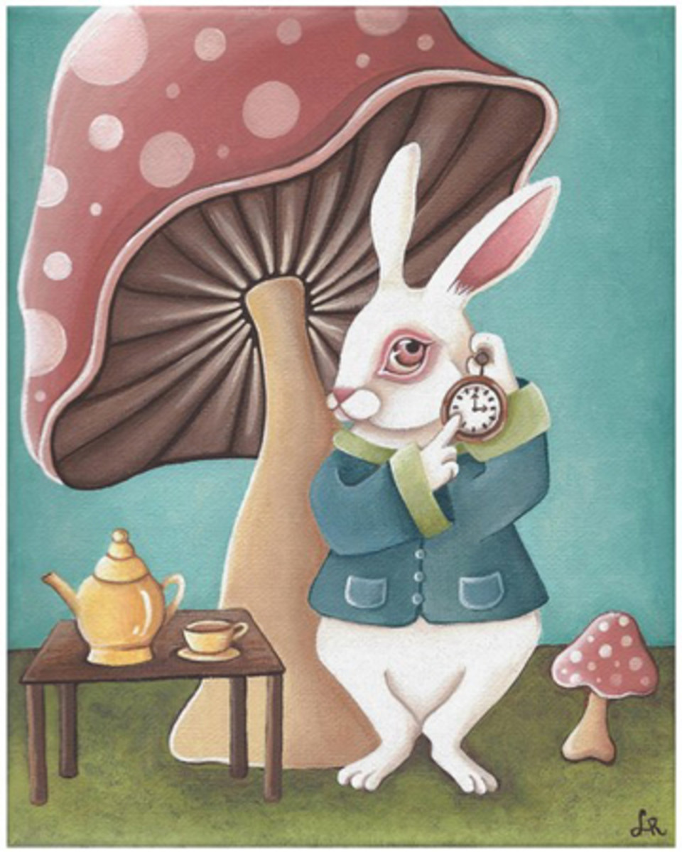 """White Rabbit Tea Party"" by Lori Ramotar"