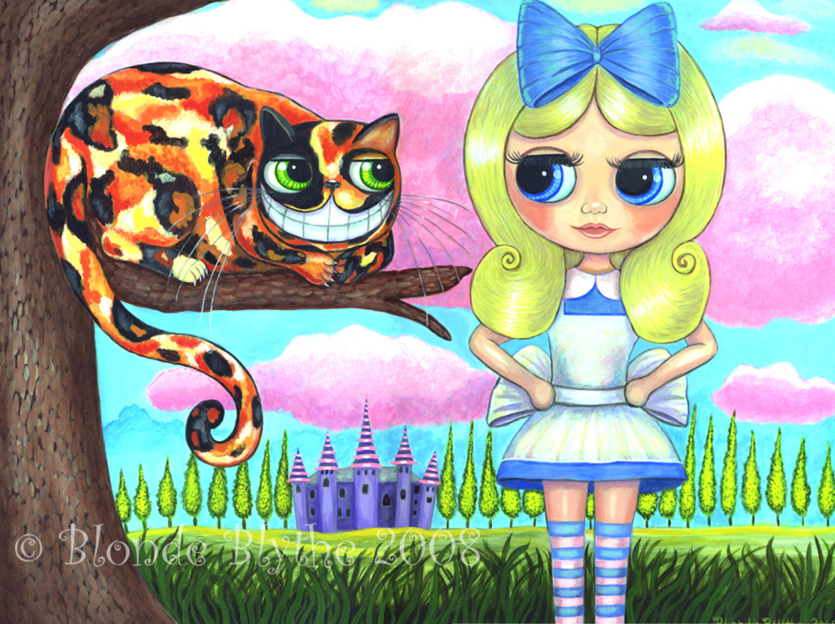 """Alice and the Cheshire Cat"" by Blonde Blythe (2008)"