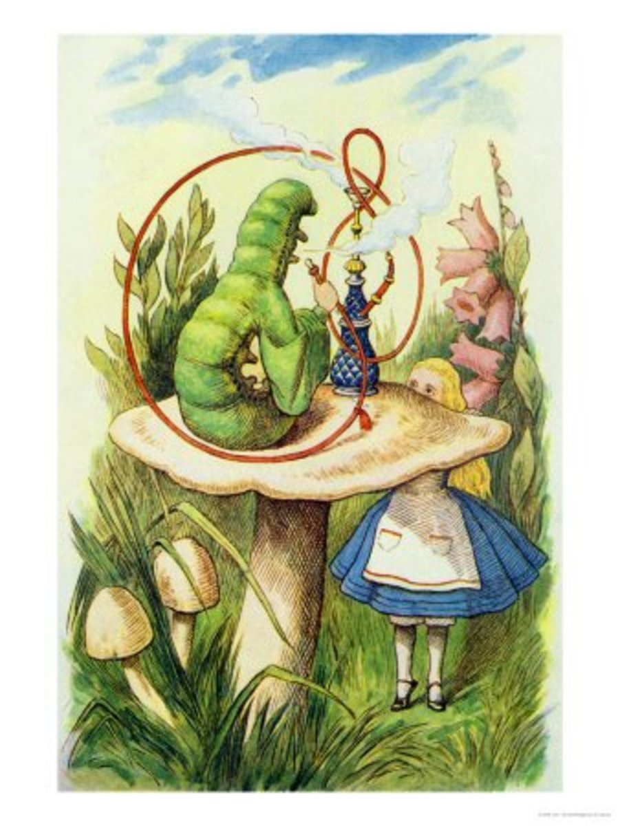 """Alice Meets the Caterpillar"" by John Tenniel"