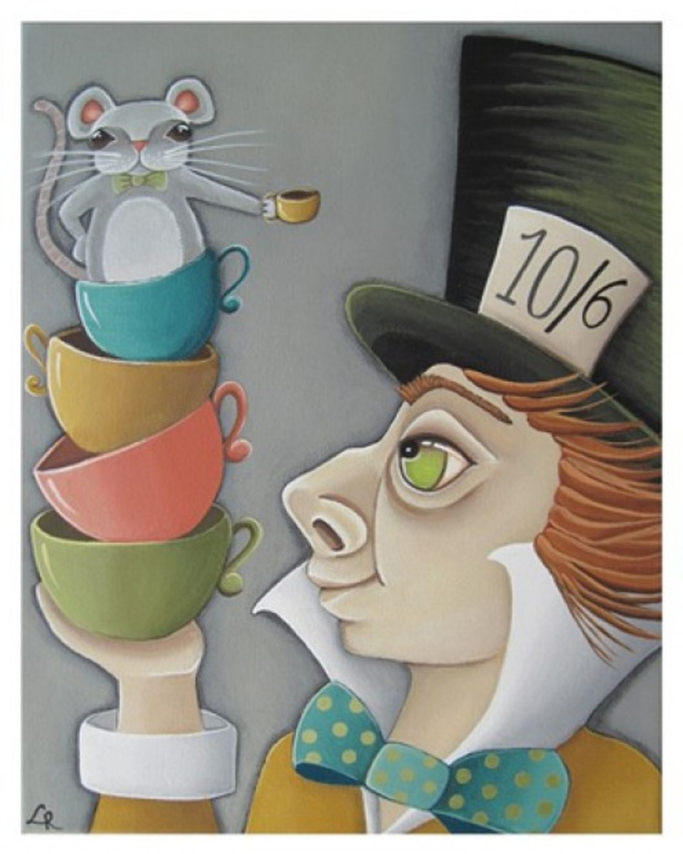 """Mad Hatter and Doormouse"" by Lori Ramotar"