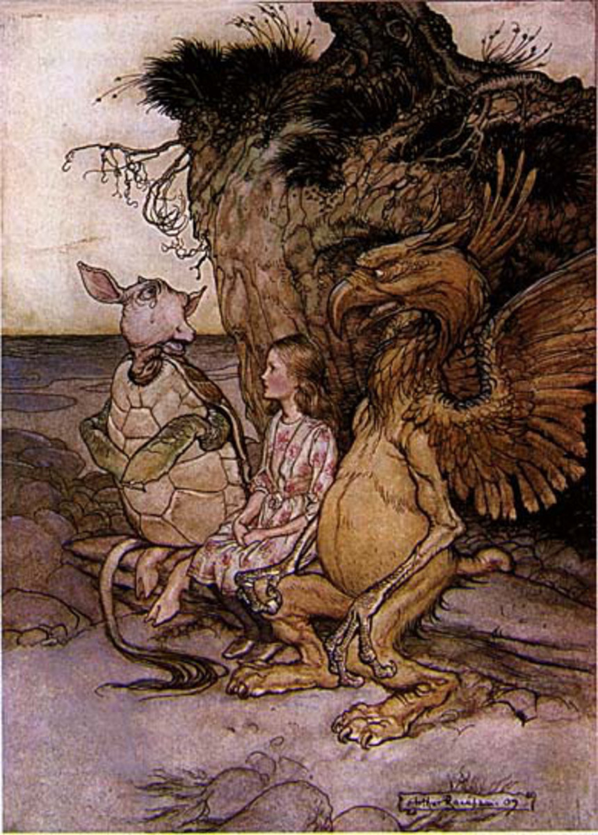 """The Mock Turtle"" by Arthur Rackham"