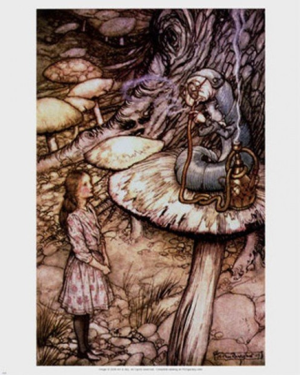 """Advice from a Caterpillar"" by Arthur Rackham"