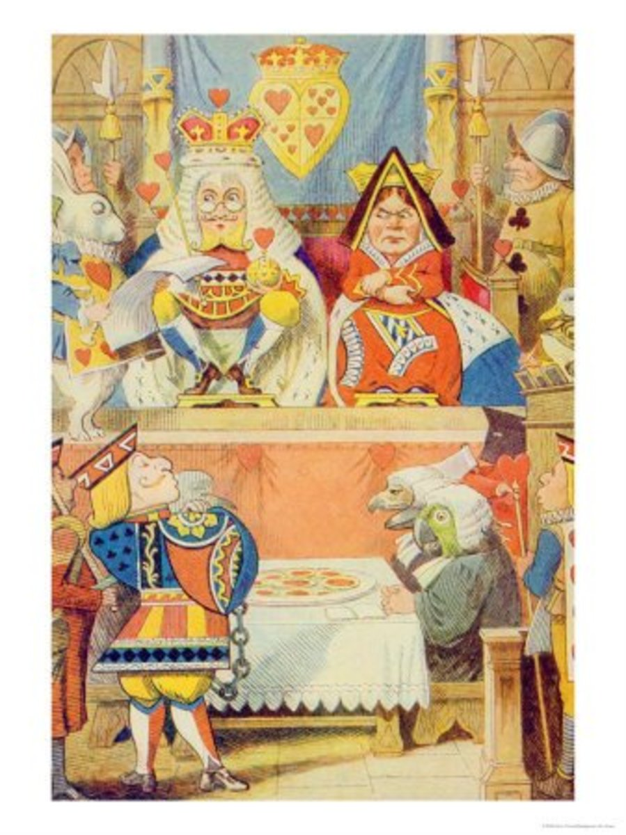"""The Trial of the Knave of Hearts"" by John Tenniel"