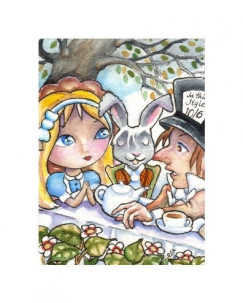 """Alice at the Mad Tea Party"" by Elaine Cox"