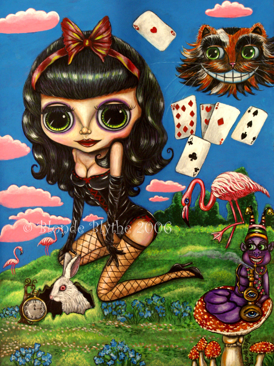 """Kawaii Noir Alice in Wonderland"" by Blonde Blythe (2006)"