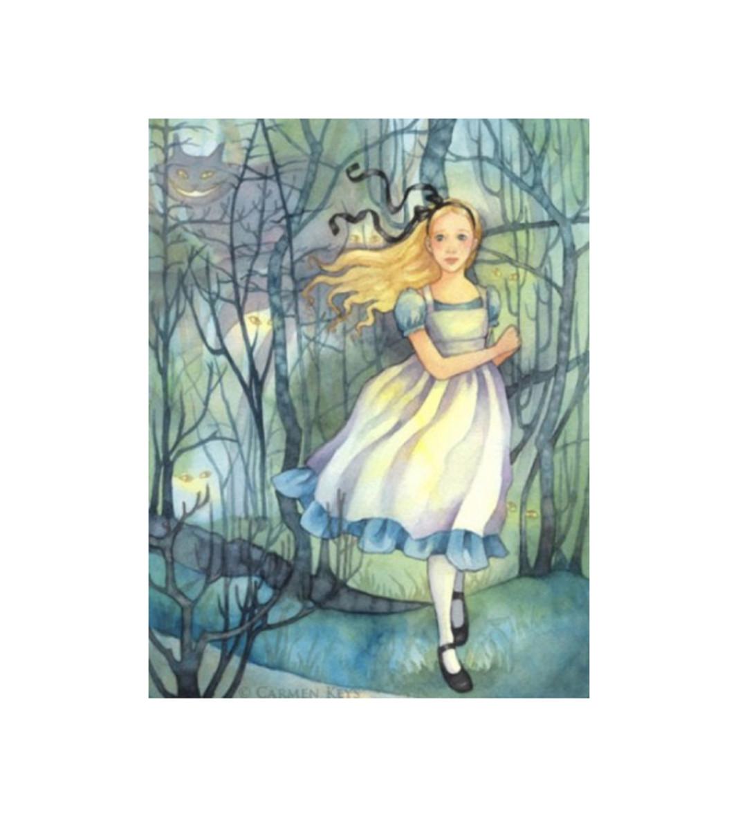 """Alice in the Tulgey Wood"" by Carmen Keys"