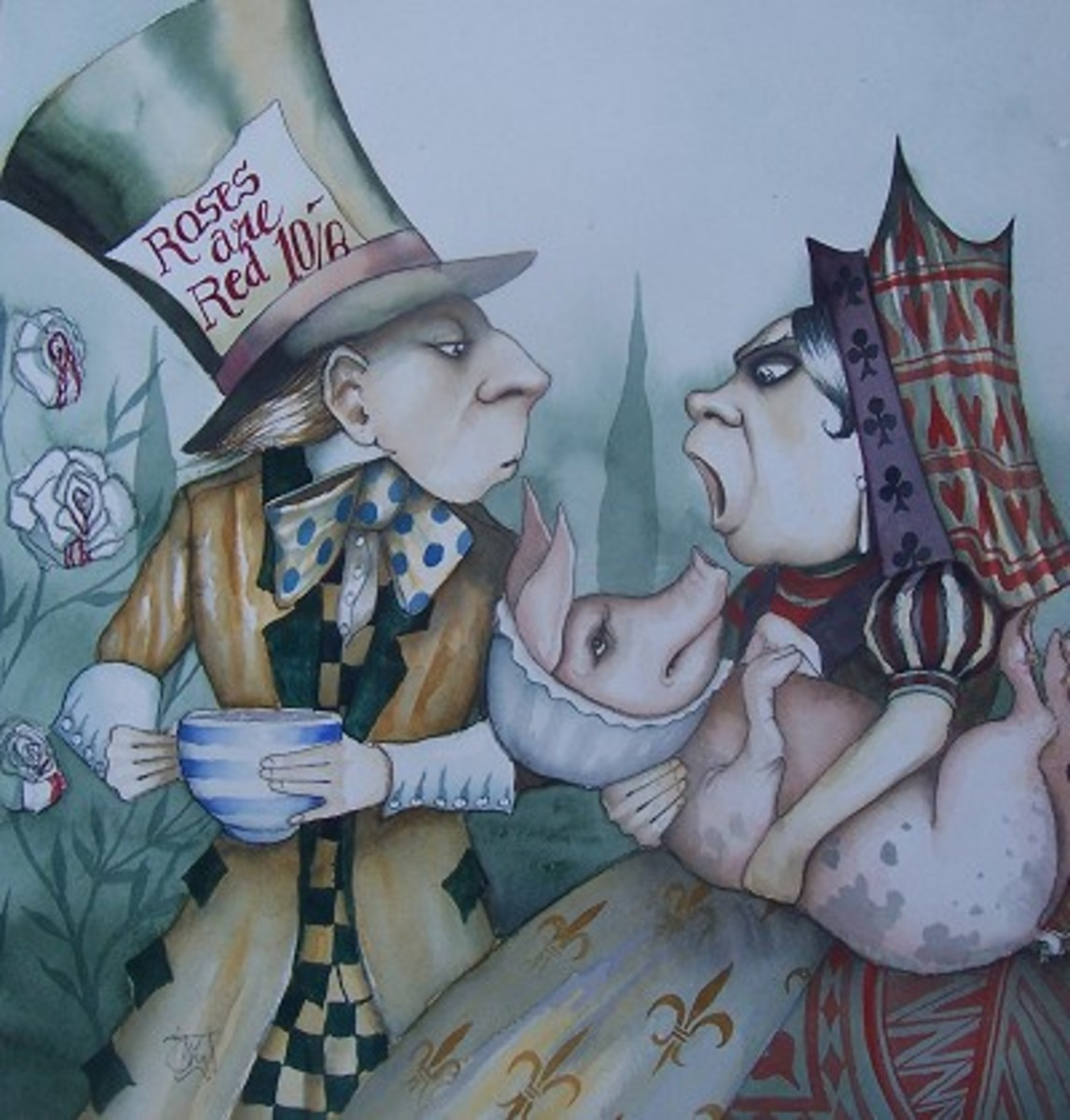 """Mad Hatter, Pig, and Queen"" by Dominic Murphy"