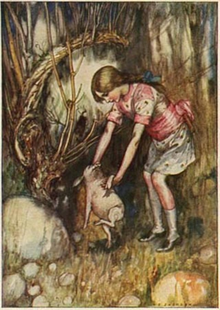 """Alice and the Pig"" by A.E. Jackson (1915)"