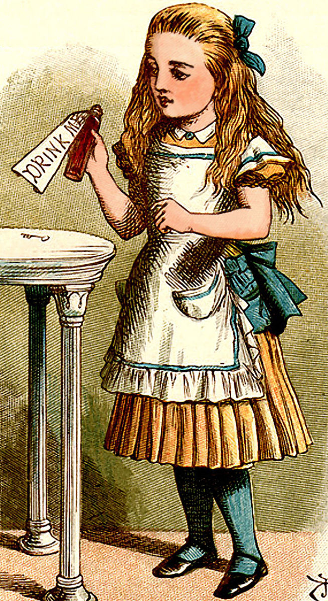"""Drink Me."" by John Tenniel"