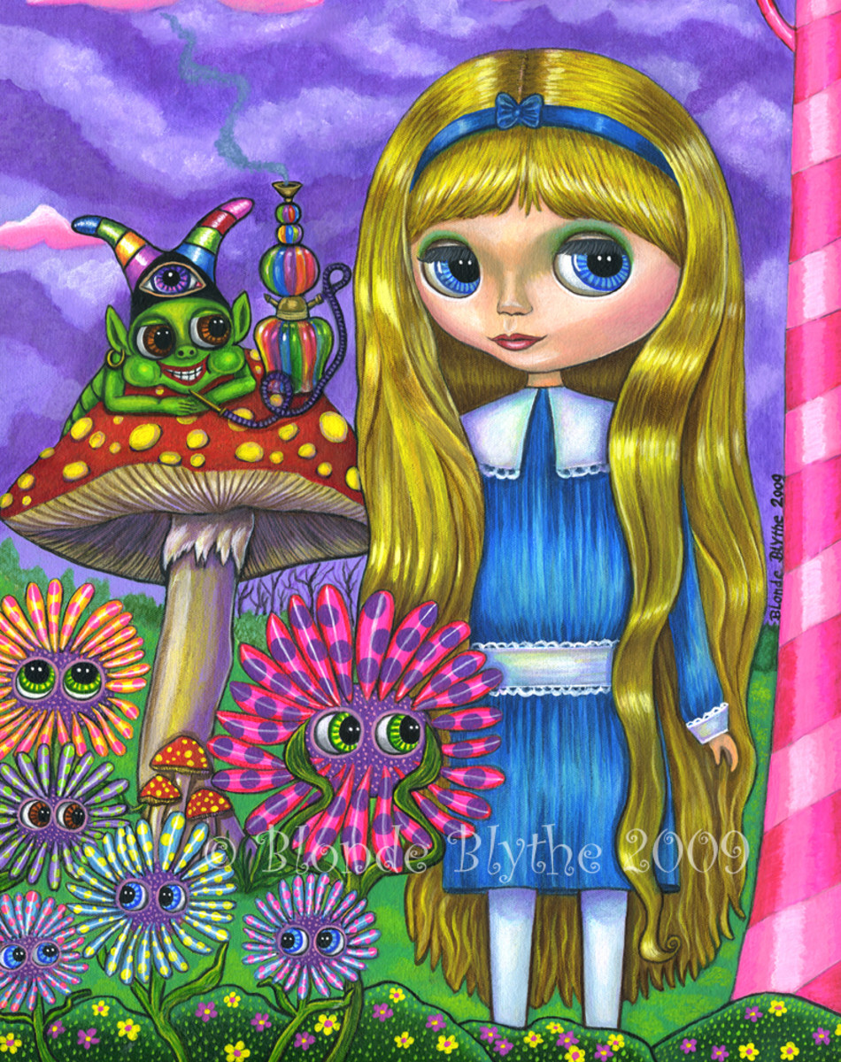 """Alice and the Caterpillar"" by Blonde Blythe (2009)"
