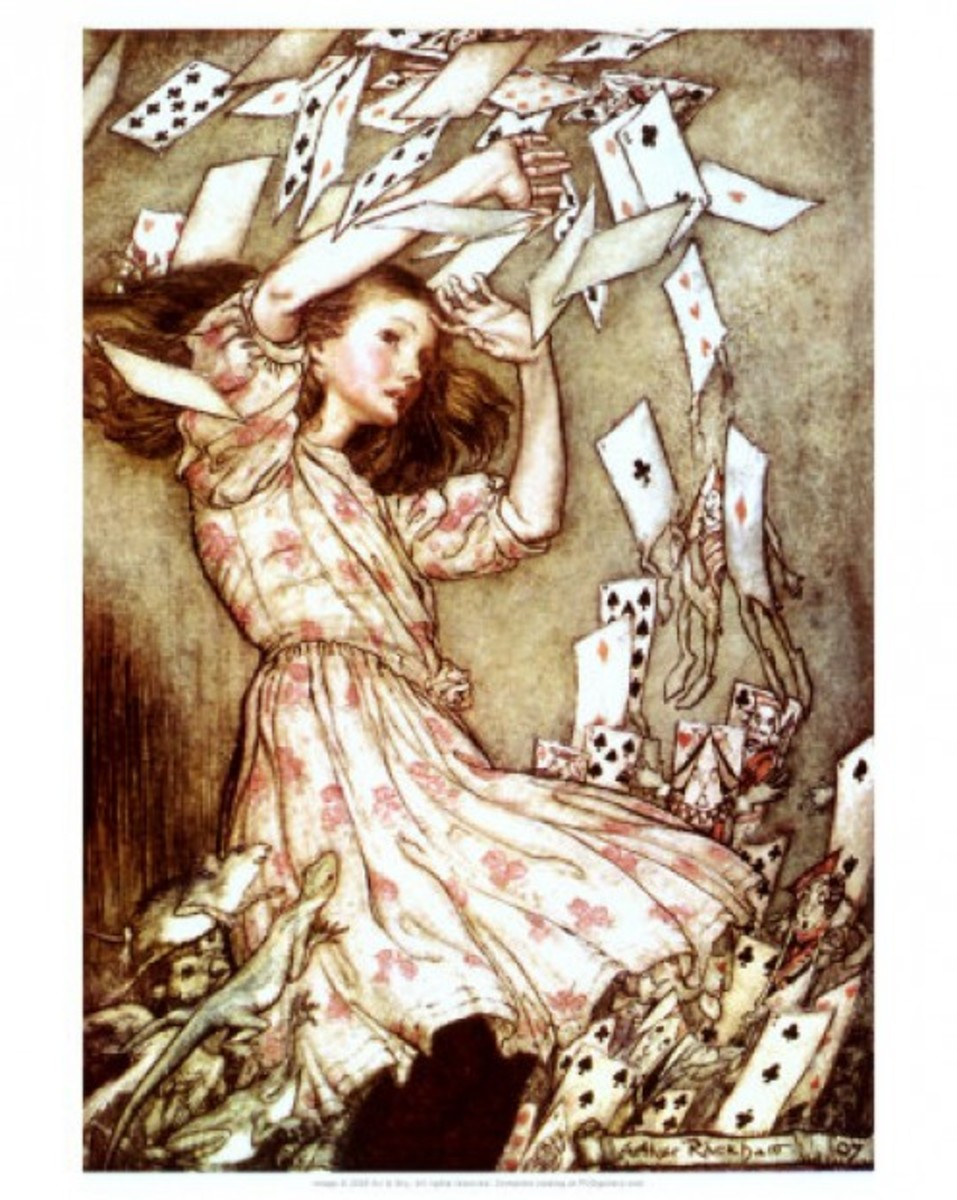 """Alice and the Pack of Cards"" Arthur Rackham (1907)"