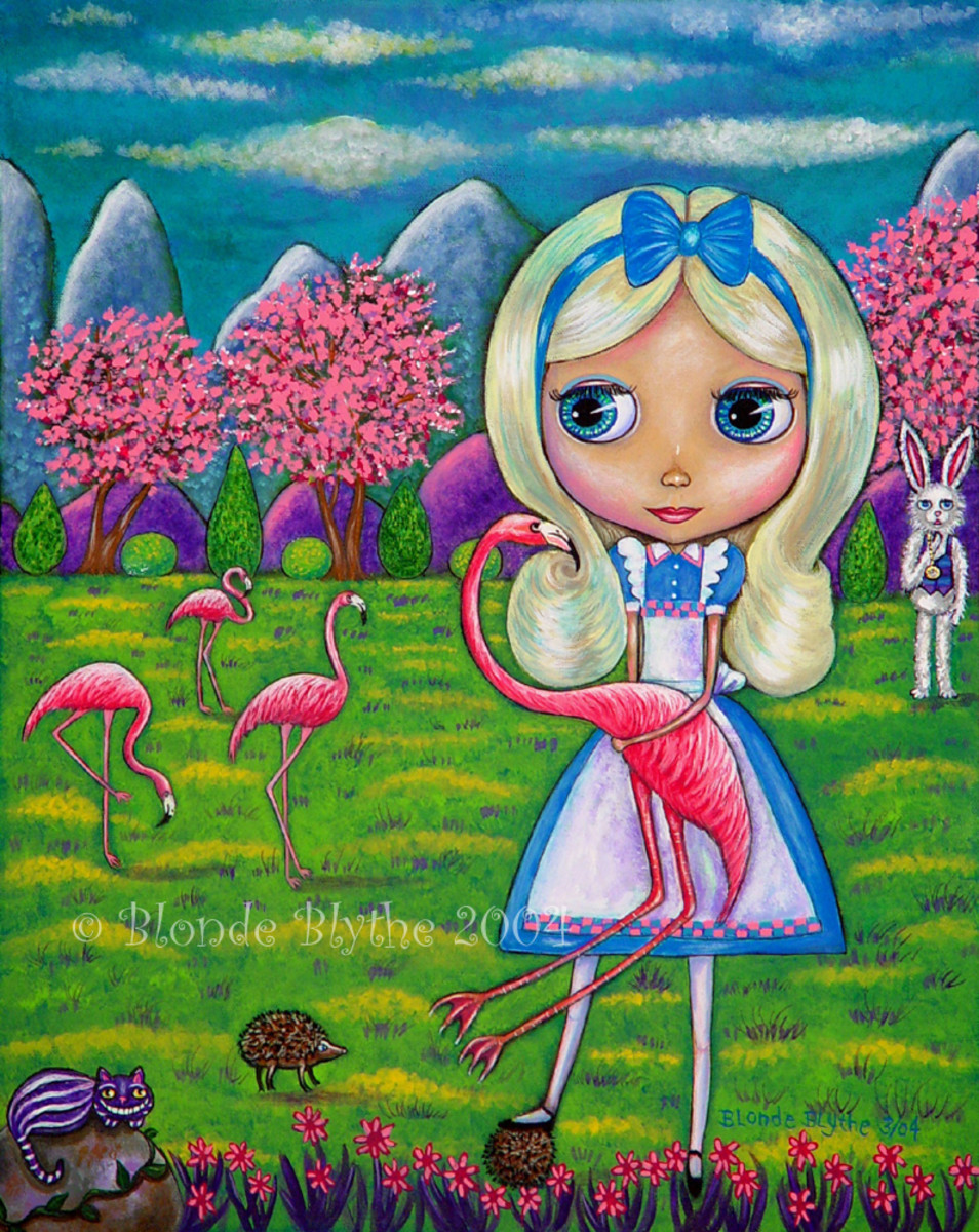 """Alice and the Flamingos"" by Blonde Blythe (2004)"
