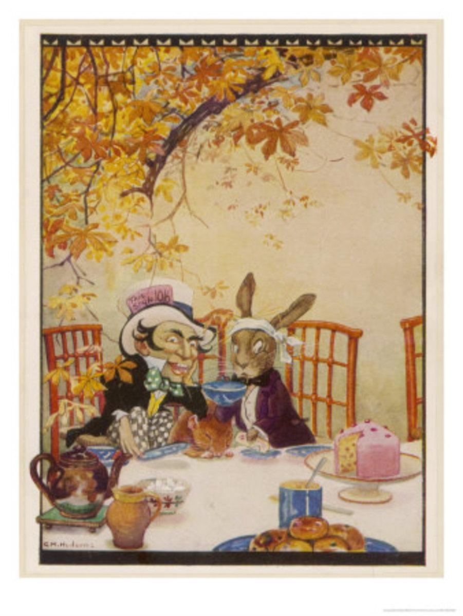 """""""Tea Party"""" by Gwynedd M. Hudson (1922)"""