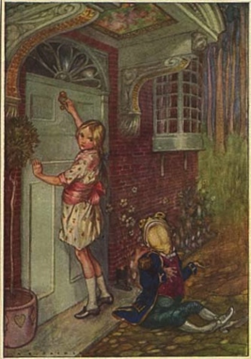 """Alice and the Footman"" by A.E. Jackson (1915)"