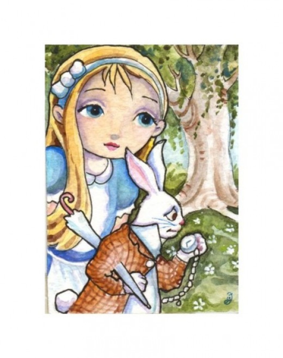 """Alice and the White Rabbit"" by Elaine Cox"