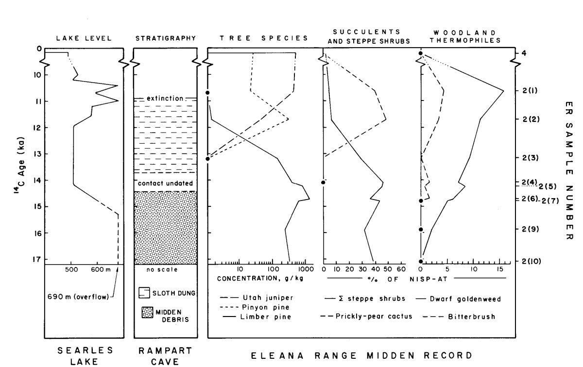 Figure 4: Eleana Range chronosequences.  Figure from Spaulding, 1985.