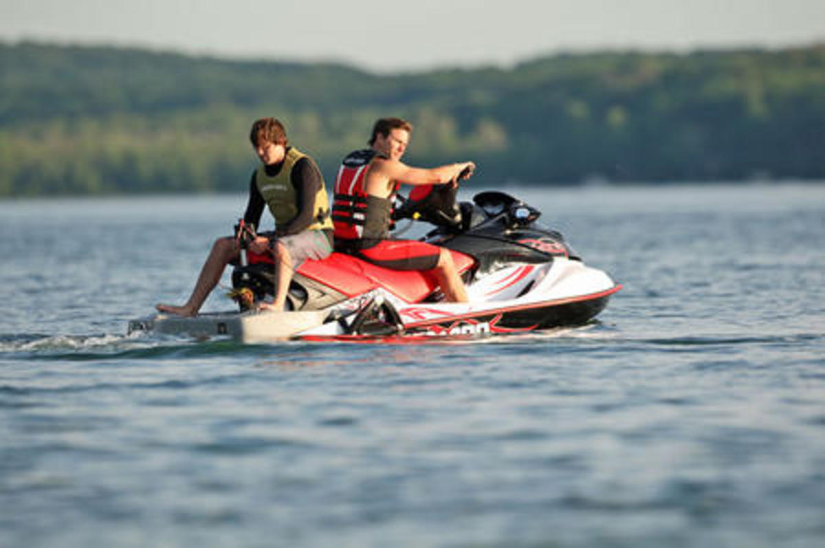 2009 Jet Ski Sea-Doo Wake Pro now fitted with retractable ski pole.