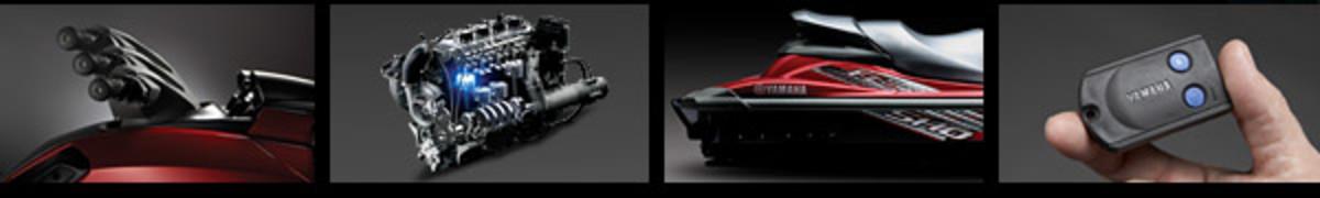 Yamaha supercharged 4 stroke marine engine.Click to enlarge.