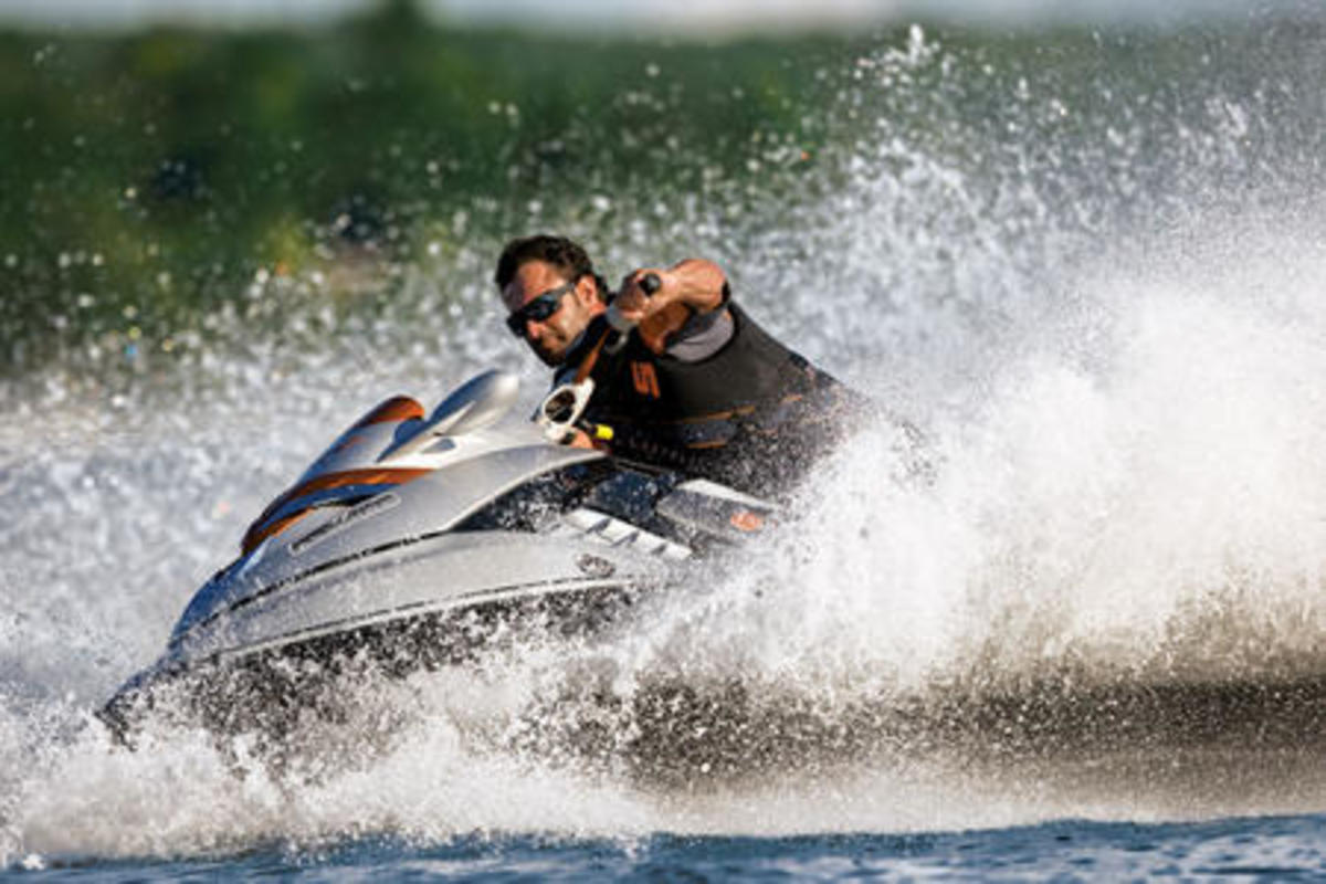 Sea-Doo's agility on sharp corner enables quick out-of-the-box maneuvering.