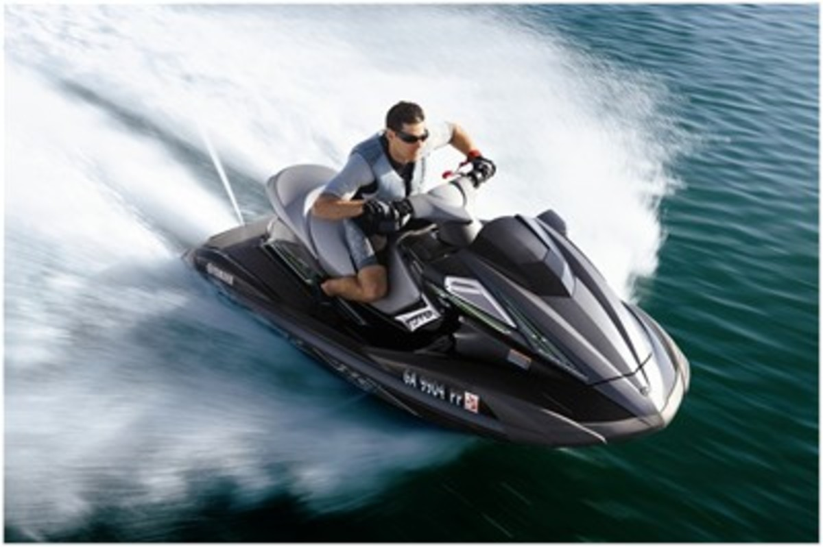 A Yamaha machine born and bred for water at high speed.