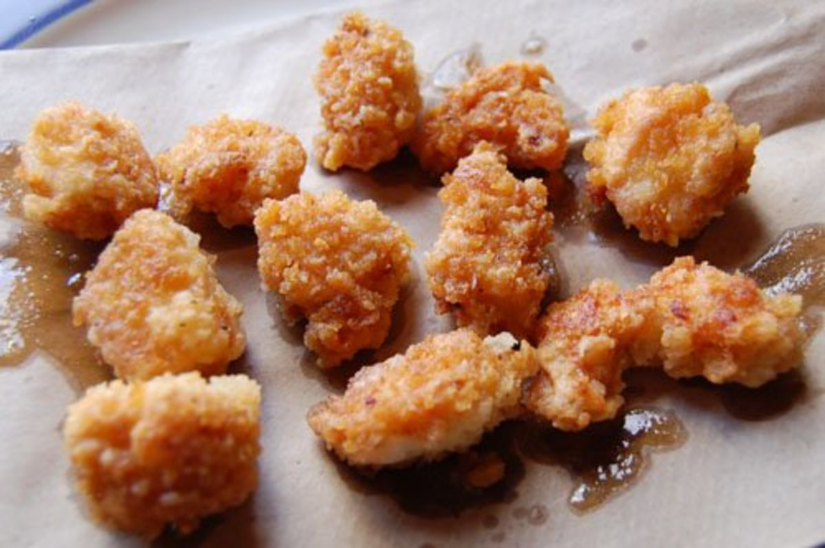 I think the recipe on this page makes the best pop corn chicken you will ever eat. If you make it please post a comment below.