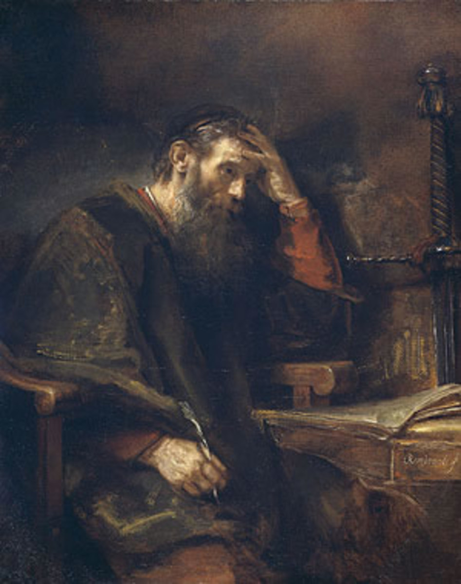APOSTLE PAUL BY REMBRANDT FROM 1657
